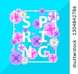 spring  typography flyer with...   Shutterstock .eps vector #1304842786