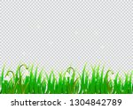 spring isolated background with ... | Shutterstock .eps vector #1304842789