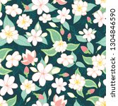 vector of seamless pattern with ... | Shutterstock .eps vector #1304846590