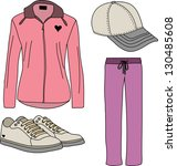 sport suits for women | Shutterstock .eps vector #130485608