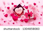 valentine's day poster or... | Shutterstock .eps vector #1304858083