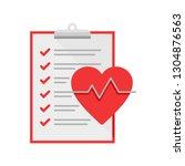 medical heart examination icon  ... | Shutterstock .eps vector #1304876563
