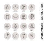 vector set design colorful... | Shutterstock .eps vector #1304879206
