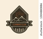 climbing club badge design.... | Shutterstock .eps vector #1304880886