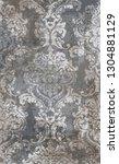 rococo texture pattern vector.... | Shutterstock .eps vector #1304881129