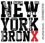 newyork city typography  slogan ...   Shutterstock . vector #1304882596