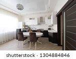 beautiful interior apartment...   Shutterstock . vector #1304884846