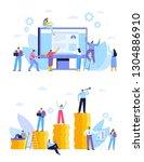 business concept. partnership.... | Shutterstock .eps vector #1304886910
