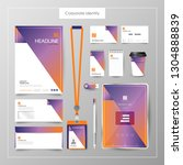 corporate identity template... | Shutterstock .eps vector #1304888839