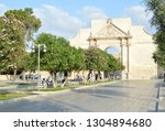 lecce  italy. the flowers of... | Shutterstock . vector #1304894680