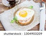 breakfast. toast with the... | Shutterstock . vector #1304903209