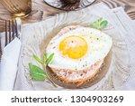breakfast. toast with the... | Shutterstock . vector #1304903269