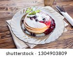 delicious and healthy breakfast ... | Shutterstock . vector #1304903809