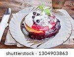 delicious and healthy breakfast ... | Shutterstock . vector #1304903863