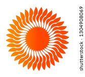 flower logo with unique... | Shutterstock .eps vector #1304908069