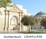 the gate in old city. triumphal ... | Shutterstock . vector #1304911930