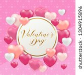 saint valentine's day greeting... | Shutterstock .eps vector #1304915896