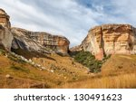 Sandstone Mountains In The...