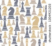 seamless pattern with chess...   Shutterstock .eps vector #1304921203