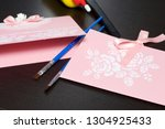 making greeting cards from... | Shutterstock . vector #1304925433