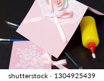 making greeting cards from... | Shutterstock . vector #1304925439