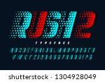 racing display font design ... | Shutterstock .eps vector #1304928049