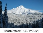 Mount Hood Covered In Winter...