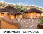 Courtyard Of The Basotho Tribe...