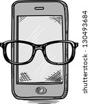 smart phone mobile doodle | Shutterstock .eps vector #130493684