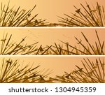 set of horizontal banners of... | Shutterstock .eps vector #1304945359