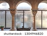 building interior of arched... | Shutterstock . vector #1304946820