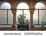 building interior of arched... | Shutterstock . vector #1304946826