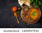 indian food dal. traditional... | Shutterstock . vector #1304947933