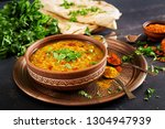 indian dal food. traditional... | Shutterstock . vector #1304947939