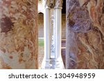 abstract image of stone columns.... | Shutterstock . vector #1304948959