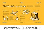 traveling company isometric... | Shutterstock .eps vector #1304950873