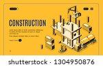 construction company isometric... | Shutterstock .eps vector #1304950876