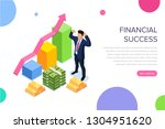 financial success concept with...   Shutterstock .eps vector #1304951620