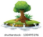 illustration of a big tree in... | Shutterstock .eps vector #130495196