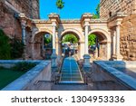 the hadrians gate is a... | Shutterstock . vector #1304953336