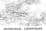 dry brush strokes and scratches ... | Shutterstock .eps vector #1304959699