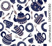 seamless vector pattern with... | Shutterstock .eps vector #1304973580