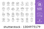 delivery service editable... | Shutterstock .eps vector #1304975179