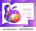 effective website template...   Shutterstock .eps vector #1304982553