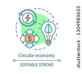 circular economy concept icon.... | Shutterstock .eps vector #1304983633
