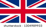 flag of the united kingdom... | Shutterstock .eps vector #1304989933