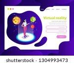 effective website template...   Shutterstock .eps vector #1304993473