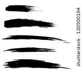set of hand drawn grunge brush... | Shutterstock . vector #130500104