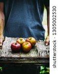 organic fruit and vegetables.... | Shutterstock . vector #1305002530