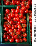 ripe raw fresh red tomatoes in... | Shutterstock . vector #1305003673
